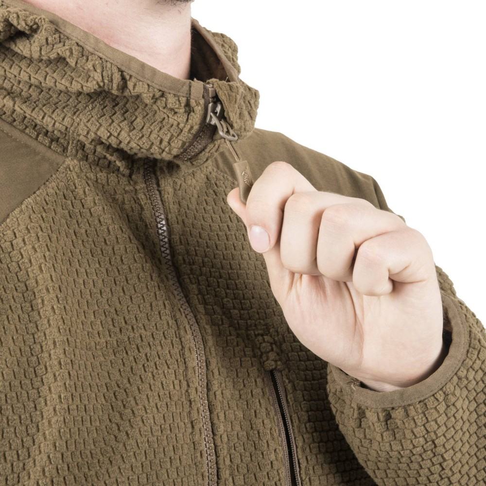 ALPHA HOODIE JACKET - GRID FLEECE