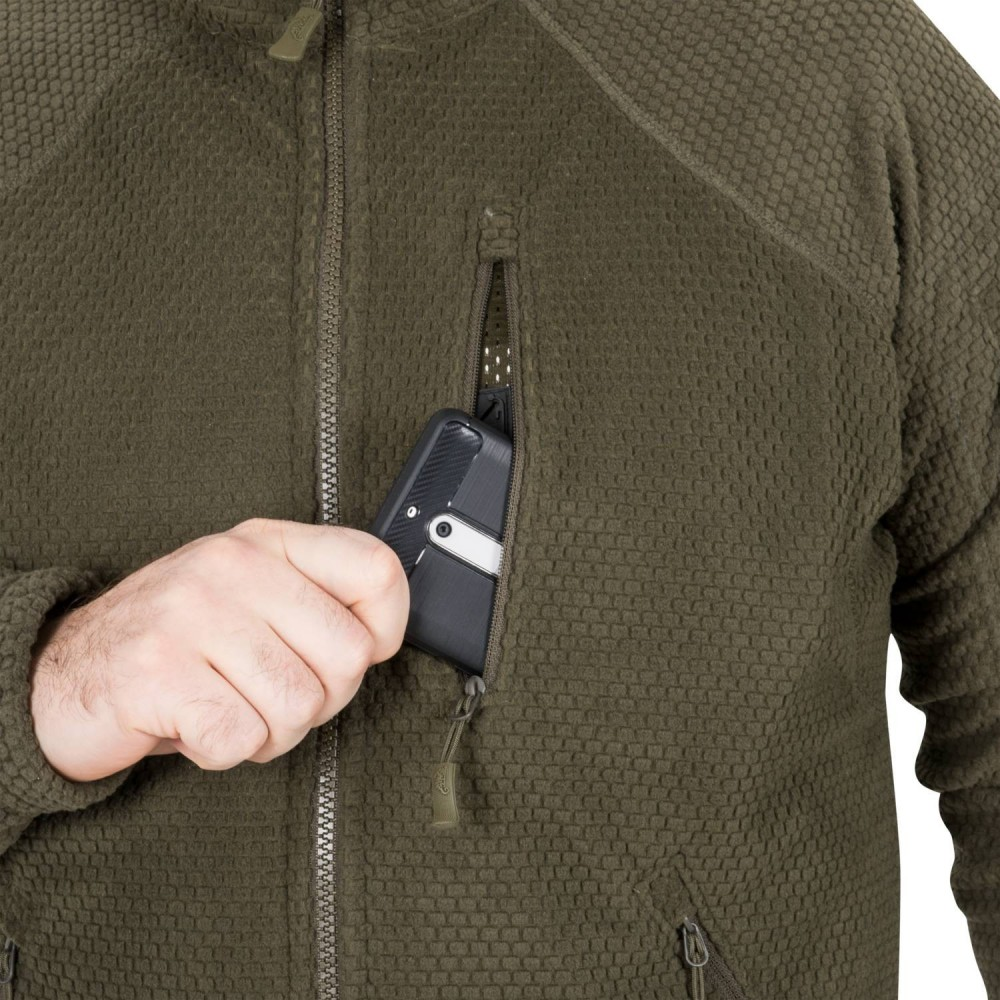 ALPHA TACTICAL JACKET - GRID FLEECE