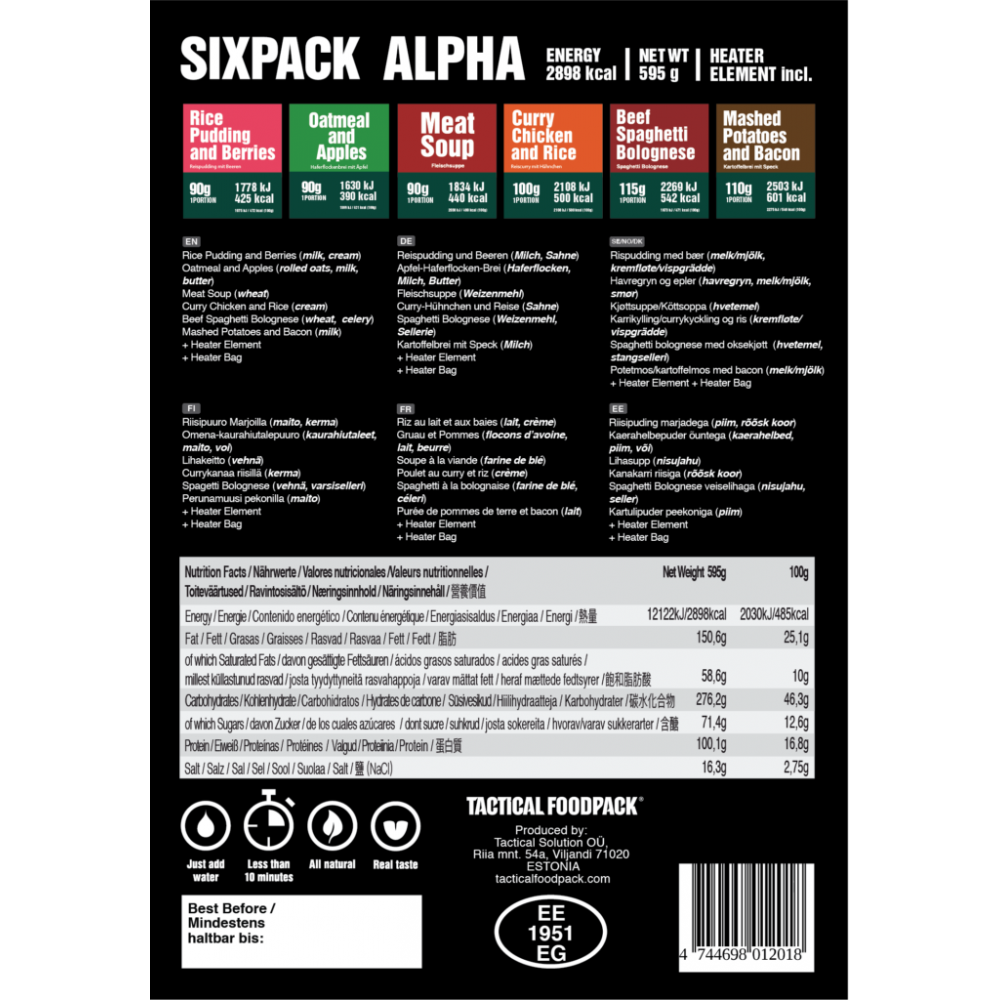 Tactical Sixpack Alpha 595g