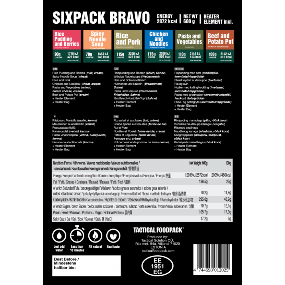 Tactical Sixpack Bravo 600g
