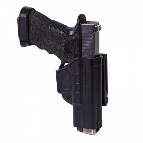 FAST DRAW HOLSTER FOR GLOCK 17 WITH BELT CLIP - MILITARY GRADE POLYMER - BLACK