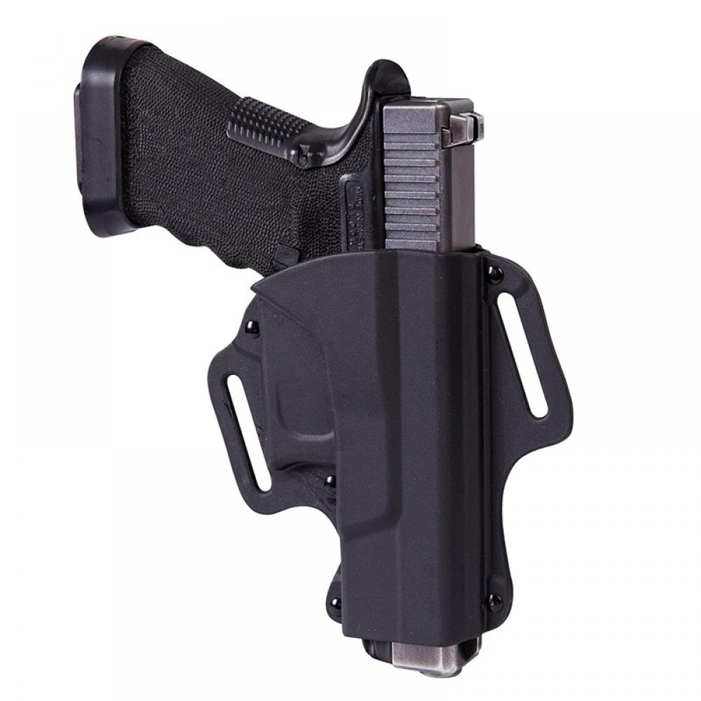 OWB HOLSTER FOR GLOCK 19 - MILITARY GRADE POLYMER - BLACK