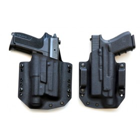 KYDEX wide holster for gun with light