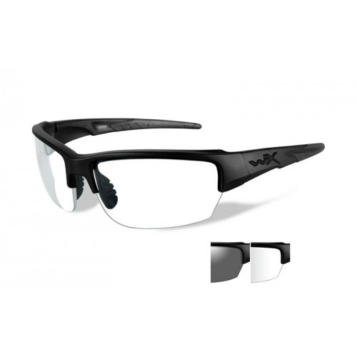 SAINT Grey/Clear Matte Black Frame
