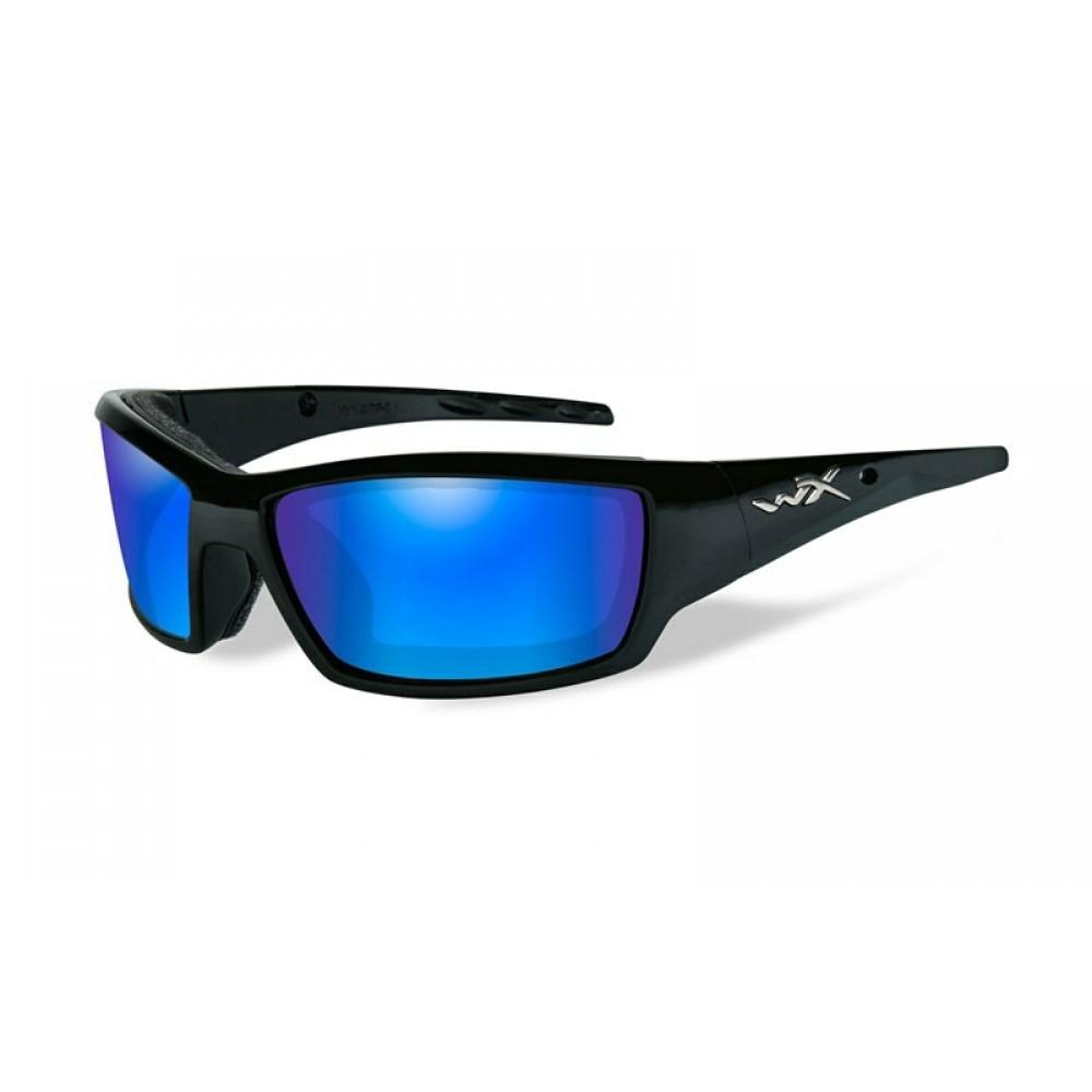 TIDE Polarized Blue Mirror  Gloss Black Frame