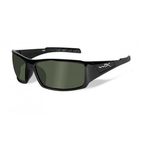 TWISTED Polarized Smoke Green Gloss Black Frame